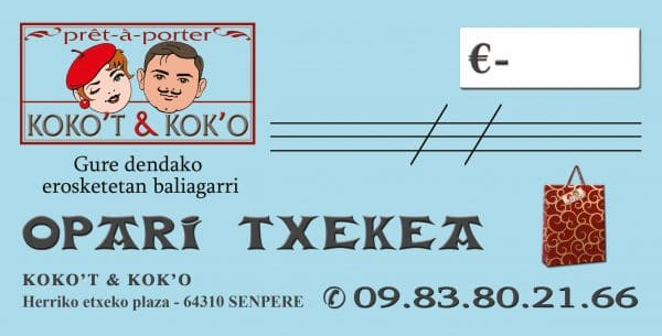 chèques cadeaux koko't et kok'o